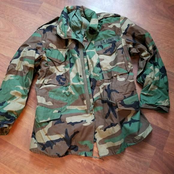 316e5c723 USGI Field Jacket M-65 Woodland Camo Jacket M